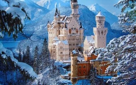 munchen sneeuw kasteel
